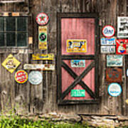 Old Barn Signs - Door And Window - Shadow Play Poster