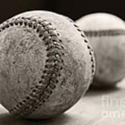Old Baseballs Poster