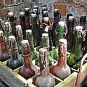 Old Beer Bottles Poster