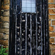 Vintage Cottage Black Door Poster