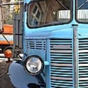 Old Blue Jalopy Truck Poster