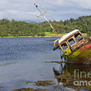 Old Boat In The Loch  Poster