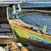 Old Boat - Lebanese Artist Zaher El- Bizri Poster
