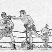 Old Boxing Old Time Poster