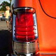 Old Car Tail Light Poster
