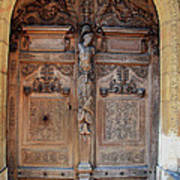 Old Carved Church Door Poster