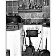 Old Cast Iron Cooking Poster
