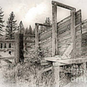 Old Cattle Ramp Poster