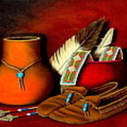 Old Cherokee Moccasins Poster