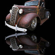 Old Chevy Poster by Debra and Dave Vanderlaan