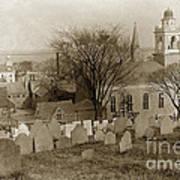 Old Church's Cemetery Graveyard Boston Massachusetts Circa 1900 Poster
