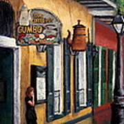 Old Coffee Pot Gumbo Poster