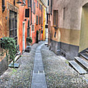 Old Colorful Stone Alley Poster