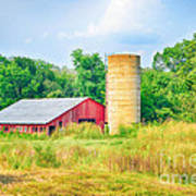 Old Country Farm And Barn Poster