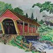 Old Covered Bridge Poster