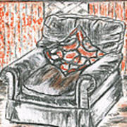 Old Cozy Chair Poster