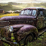 Old Dairy Farm Truck Poster