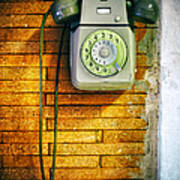 Old Dial Phone Poster