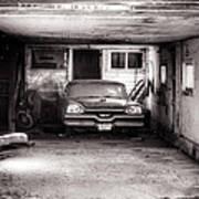 Old Dodge Car In Garage Poster