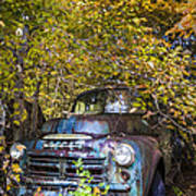 Old Dodge Poster by Debra and Dave Vanderlaan