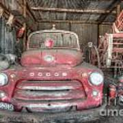 Old Dodge Fire Truck Poster by Shannon Rogers