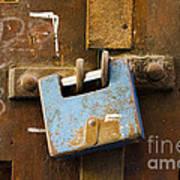 Old Door Padlock Poster