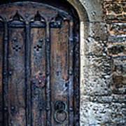 Old Door With Spider Webs Poster