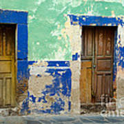 Old Doors, Mexico Poster