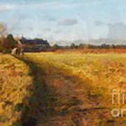 Old English Landscape Poster by Pixel Chimp