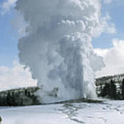 Old Faithful In Her Glory - Yellowstone Poster