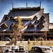 Old Faithful Inn Yellowstone  Poster