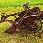 Old Farm Equipment Hardin Montana Poster