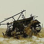Old Farm Equipment Northwest North Dakota Poster by Jeff Swan