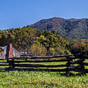 Old Farm House At Cades Cove Poster