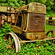 Old Farm Tractor Poster