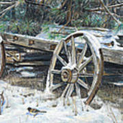Old Farm Wagon Poster by Nick Payne