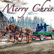 Old Fashion Merry Christmas Poster