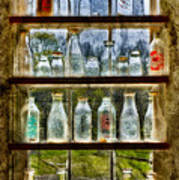 Old Fashioned Milk Bottles Poster by Susan Candelario