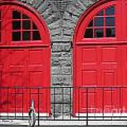 Old Fire Hall Doors Poster
