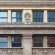 Old First National Bank - Building - Omaha Poster