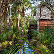 Old Florida Watermill I Poster