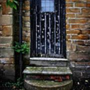 Old Forgotten Black Front Door Poster