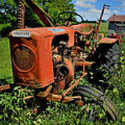 old french tractor Vendeuvre Poster