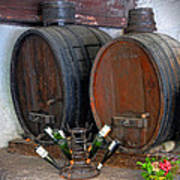 Old French Wine Casks Poster
