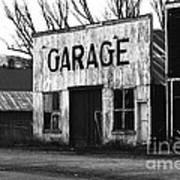 Old Garage Poster