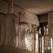 Old Glass Bottles Poster