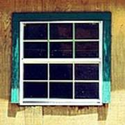 Old Glass Window Poster