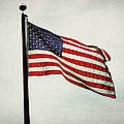 Old Glory In The Wind Poster