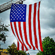 Old Glory Over Doylestown Poster
