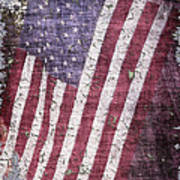Old Glory   Peeling Paint Poster